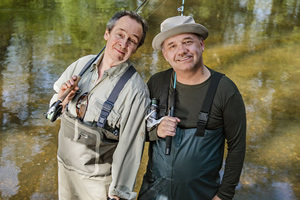 Mortimer & Whitehouse: Gone Fishing. Image shows from L to R: Paul Whitehouse, Bob Mortimer. Copyright: Owl Power.