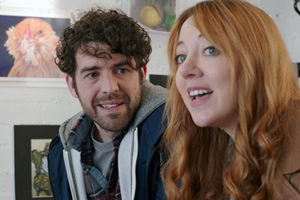 Motherland. Image shows from L to R: Kevin (Paul Ready), Liz (Diane Morgan).