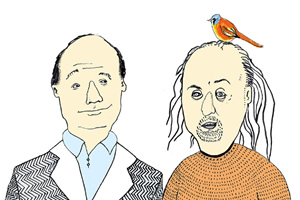 The Museum Of Curiosity. Image shows from L to R: John Lloyd, Bill Bailey. Copyright: BBC.