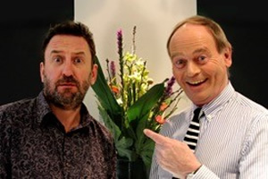 The Museum Of Curiosity. Image shows from L to R: Lee Mack, John Lloyd. Copyright: BBC.