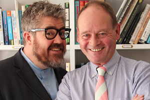 The Museum Of Curiosity. Image shows from L to R: Phill Jupitus, John Lloyd. Copyright: BBC.