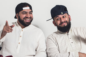 Muzlamic. Image shows from L to R: Aatif Nawaz, Ali Shahalom. Copyright: Matt Stronge.