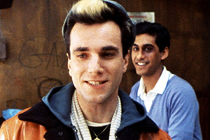 My Beautiful Laundrette. Image shows from L to R: Johnny (Daniel Day Lewis), Omar (Gordon Warnecke). Copyright: Film4.