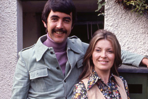 My Wife Next Door. Image shows from L to R: George Bassett (John Alderton), Suzy Bassett (Hannah Gordon). Copyright: BBC.