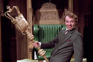 The New Statesman. Alan B'Stard MP (Rik Mayall).