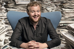 The News Quiz. Miles Jupp. Copyright: BBC.