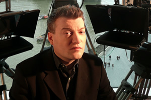 Newswipe With Charlie Brooker. Charlie Brooker. Copyright: Zeppotron.