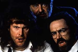 Nightingales. Image shows from L to R: Bell (David Threlfall), Sarge (James Ellis), Carter (Robert Lindsay).
