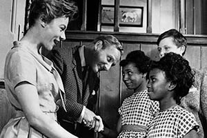No Kidding. Image shows from L to R: Catherine Robinson (Geraldine McEwan), David Robinson (Leslie Phillips), Eileen (Millicent Kerr), Margaret (Louise Redman), Angus (Martin Stephens).