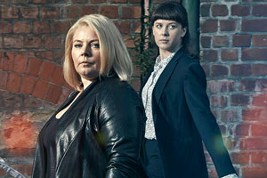 No Offence. Image shows from L to R: D.I. Vivienne Deering (Joanna Scanlan), D.S. Joy Freers (Alexandra Roach). Copyright: AbbottVision.