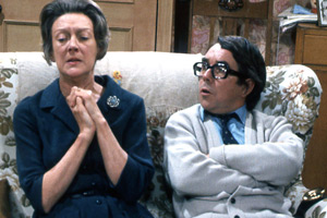 Now Look Here.... Image shows from L to R: Ronnie's Mother (Madge Ryan), Ronnie (Ronnie Corbett). Copyright: BBC.