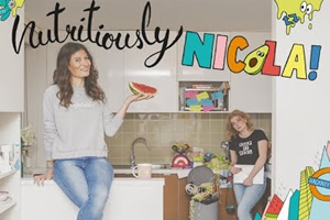 Nutritiously Nicola!. Image shows from L to R: Nicola Woodford (Natalie Bray), Hollie (Isobel Hughes).