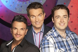 Odd One In. Image shows from L to R: Peter Andre, Bradley Walsh, Jason Manford. Copyright: Zeppotron.