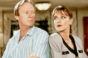 On The Up. Image shows from L to R: Tony Carpenter (Dennis Waterman), Ruth Carpenter (Judy Buxton). Copyright: BBC.