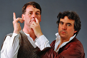Image shows from L to R: Michael Palin, Terry Jones.