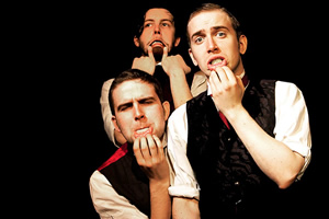 The Penny Dreadfuls Present.... Image shows from L to R: Humphrey Ker, Thom Tuck, David Reed.
