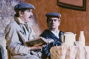 Peter Cook & Dudley Moore: The Missing Sketches. Image shows from L to R: Peter Cook, Dudley Moore. Copyright: Alan Messer / REX / Shutterstock.