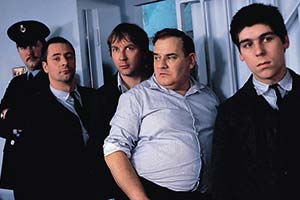 Porridge. Image shows from L to R: Ronnie Barker, Daniel Peacock, Barrie Rutter, Sam Kelly. Copyright: WitzEnd Productions.