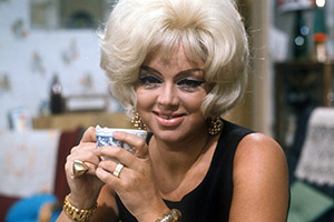 Queenie's Castle. Queenie Shepherd (Diana Dors). Copyright: Yorkshire Television.
