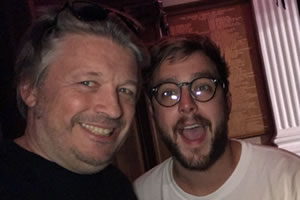 Richard Herring's Edinburgh Fringe Podcast. Image shows from L to R: Richard Herring, Iain Stirling.
