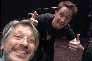 Richard Herring's Edinburgh Fringe Podcast. Image shows from L to R: Richard Herring, John Robins.