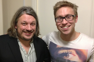 Richard Herring's Leicester Square Theatre Podcast. Image shows from L to R: Richard Herring, Russell Howard.