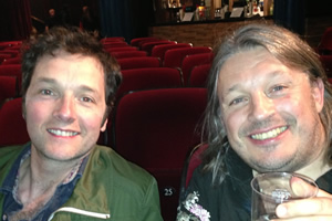Richard Herring's Leicester Square Theatre Podcast. Image shows from L to R: Chris Addison, Richard Herring.