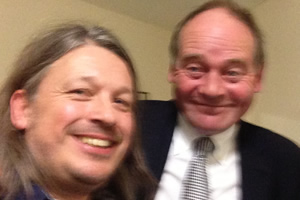Richard Herring's Leicester Square Theatre Podcast. Image shows from L to R: Richard Herring, John Lloyd.