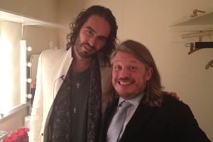 Richard Herring's Leicester Square Theatre Podcast. Image shows from L to R: Russell Brand, Richard Herring.