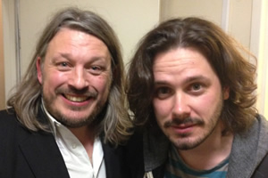 Richard Herring's Leicester Square Theatre Podcast. Image shows from L to R: Richard Herring, Edgar Wright.