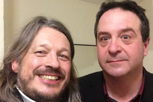 Richard Herring's Leicester Square Theatre Podcast. Image shows from L to R: Richard Herring, Mark Thomas.