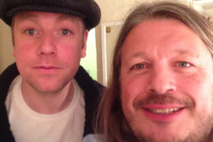 Richard Herring's Leicester Square Theatre Podcast. Image shows from L to R: Rufus Hound, Richard Herring.