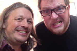 Richard Herring's Leicester Square Theatre Podcast. Image shows from L to R: Richard Herring, Miles Jupp.