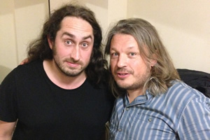 Richard Herring's Leicester Square Theatre Podcast. Image shows from L to R: Ross Noble, Richard Herring.