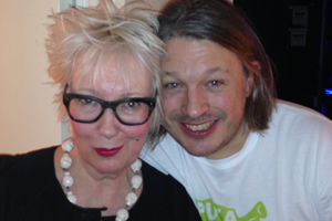 Richard Herring's Leicester Square Theatre Podcast. Image shows from L to R: Jenny Eclair, Richard Herring.