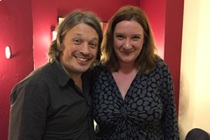 Richard Herring's Leicester Square Theatre Podcast. Image shows from L to R: Richard Herring, Sarah Millican.