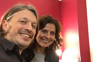 Richard Herring's Leicester Square Theatre Podcast. Image shows from L to R: Richard Herring, Rebecca Front.