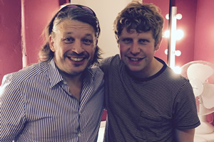Richard Herring's Leicester Square Theatre Podcast. Image shows from L to R: Richard Herring, Josh Widdicombe.