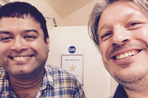 Richard Herring's Leicester Square Theatre Podcast. Image shows from L to R: Paul Sinha, Richard Herring.