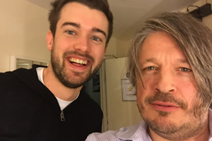 Richard Herring's Leicester Square Theatre Podcast. Image shows from L to R: Jack Whitehall, Richard Herring.