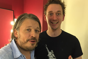 Richard Herring's Leicester Square Theatre Podcast. Image shows from L to R: Richard Herring, John Robins.