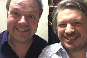 Richard Herring's Leicester Square Theatre Podcast. Image shows from L to R: Hal Cruttenden, Richard Herring.