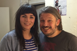 Richard Herring's Leicester Square Theatre Podcast. Image shows from L to R: Aisling Bea, Richard Herring.