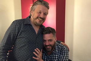 Richard Herring's Leicester Square Theatre Podcast. Image shows from L to R: Richard Herring, Iain Lee.