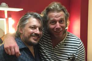 Richard Herring's Leicester Square Theatre Podcast. Image shows from L to R: Richard Herring, Tony Law.