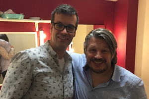 Richard Herring's Leicester Square Theatre Podcast. Image shows from L to R: Marcus Brigstocke, Richard Herring.