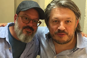Richard Herring's Leicester Square Theatre Podcast. Image shows from L to R: David Cross, Richard Herring.