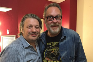 Richard Herring's Leicester Square Theatre Podcast. Image shows from L to R: Richard Herring, Vic Reeves.