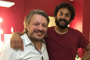 Richard Herring's Leicester Square Theatre Podcast. Image shows from L to R: Richard Herring, Nish Kumar.