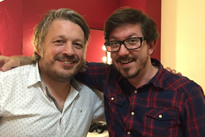 Richard Herring's Leicester Square Theatre Podcast. Image shows from L to R: Richard Herring, Matthew Crosby.